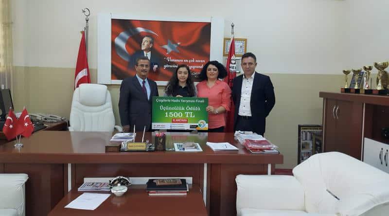 Tuzla Belediyesinin Türkiye genelinde düzenlediği Çizgilerle Hadis yarışmasında öğrencimiz 3. olmuştur.