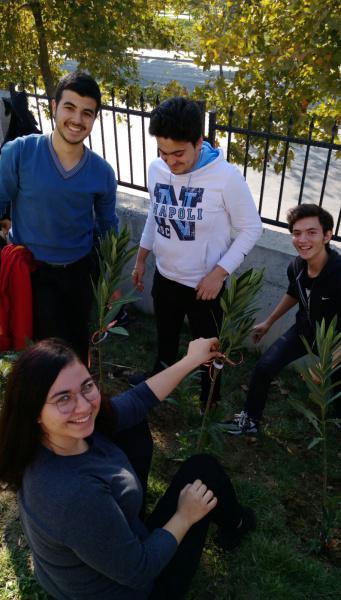 Seninde Dikili Bir Ağacın Olsun projesi kapsamında okulumuza 310 zakkum ağacı, 25 meyve ağacı, 15 gül dikimi okulumuz öğretmen ve öğrencilerimizle birlikte gerçekleştirildi.