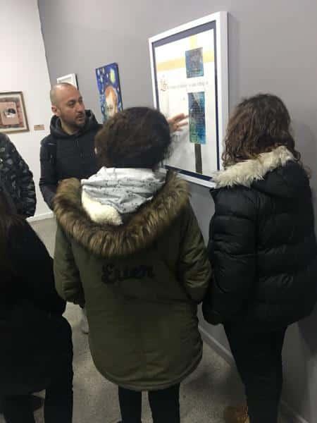 Cennet Kültür Merkezindeki Gelenksel Türk Sanatları Sergisine öğrencilerimiz yoğun ilgi gösterdi