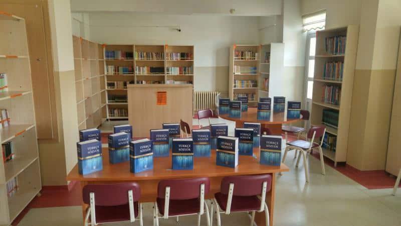 Sözlük kullanmaya ve kelime dağarcığı geliştirmeye yönelik olarak her sınıfa bir sözlük çalışması tamamlanmıştır.