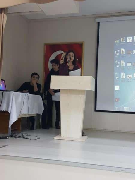 12 Mart İstiklal Marşımızın Kabülünü törenle kutlandı.