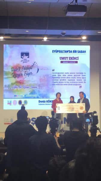 Öğrencimiz Umut EKİNCİ Eyüp Sultanda Bir Sabah Konulu Öykü Yazma Yarışmasında 2. olmuştur. Gösterdiği başarıyı tebrik ediyoruz.