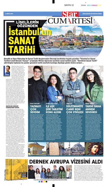 İstanbulun Sanat Tarihini Liseli Gençler Yazıyor  projesi ile Semtimin Sanat Tarihi adlı kitapta yazısı yayınlanan 11.sınıf öğrencimiz Fatma Ayça OĞUZu tebrik eder çalışmalarında başarılar dileriz.
